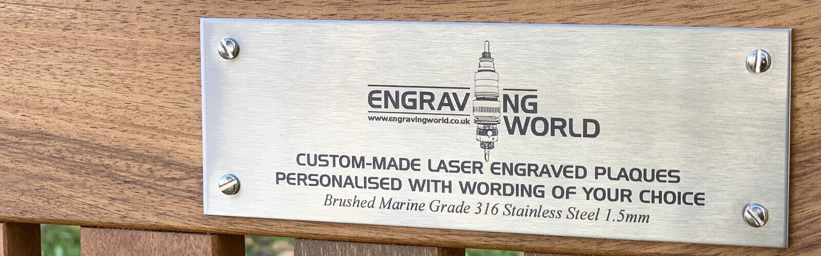 Personalised Stainless Steel Plaques.